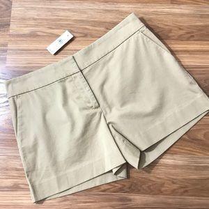 NWT Loft Riviera Flat Front Khaki Shorts Size 2